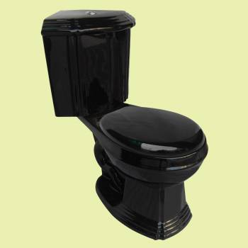 <PRE>Renovator's Supply Black Ceramic Round Space Saving Corner Toilet</PRE>zoom2