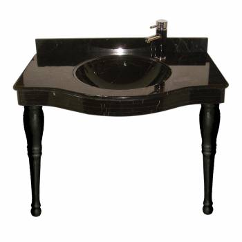 Absolute Black  Granite Console Sink21834grid