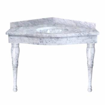 <PRE>Carara Marble Corner Spingle Leg Sink</PRE>zoom1