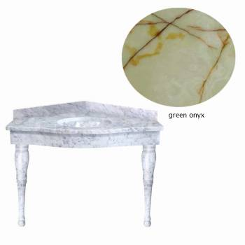 Green Onyx Corner Spindle Leg sink21841grid