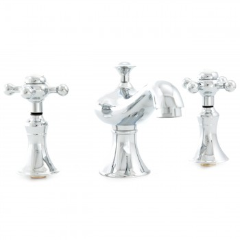 <PRE>Heavy Bathroom Widespread Faucet Chrome Cross 2 Handles </PRE>zoom3