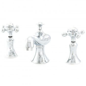 <PRE>Heavy Bathroom Widespread Faucet Chrome Cross 2 Handles </PRE>zoom4