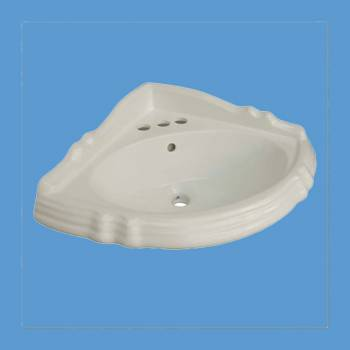 <PRE>Bathroom Sheffield Corner Basin Bone China for Pedestal 10773</PRE>