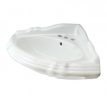 <PRE>Pedestal Corner Sink White China Sheffield Basin Only </PRE>zoom4