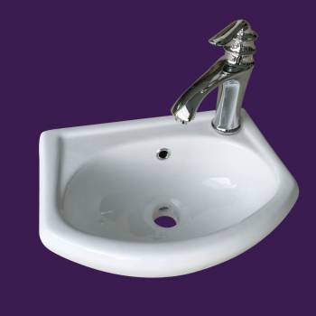 <PRE>White Small Bathroom Wall Mount Sink Rounded Space Saving </PRE>zoom2