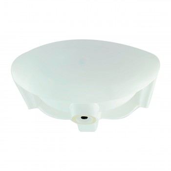 <PRE>White Small Bathroom Wall Mount Sink Rounded Space Saving </PRE>zoom3
