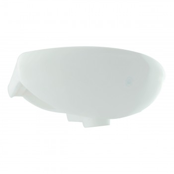 <PRE>White Small Bathroom Wall Mount Sink Rounded Space Saving </PRE>zoom5