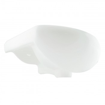 <PRE>White Small Bathroom Wall Mount Sink Rounded Space Saving </PRE>zoom7