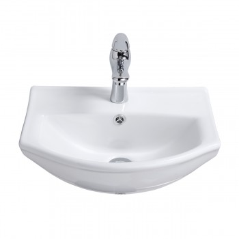 <PRE>Renovator's Supply Small Wall Mount Bathroom Sink White China Space Saving </PRE>zoom3