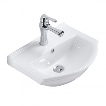 Renovator's Supply Small Wall Mount Bathroom Sink White Porcelain Space Saving21855grid