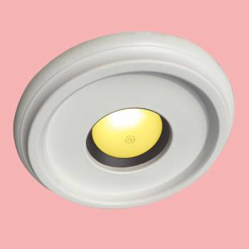 "<PRE>Spot Light Ring White Trim 4inch ID x 10""OD Mini Medallion </PRE>zoom2"
