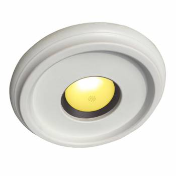 "<PRE>Spot Light Ring White Trim 4inch ID x 10""OD Mini Medallion </PRE>zoom1"