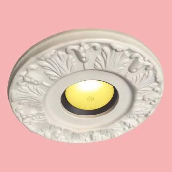 <PRE>Spot Light Ring White Trim 4&quot; ID x 10&quot;OD Mini Medallion </PRE>