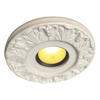 <PRE>Spot Light Ring White Trim 4inch ID x 10&quot;OD Mini Medallion </PRE>zoom1