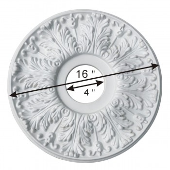 spec-<PRE>Decorative Ceiling Medallion White 15.5 OD </PRE>