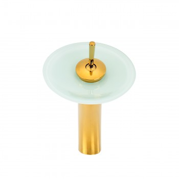 <PRE>Gold PVD Solid Brass Waterfall Faucet Tall  White Glass Plate</PRE>zoom3
