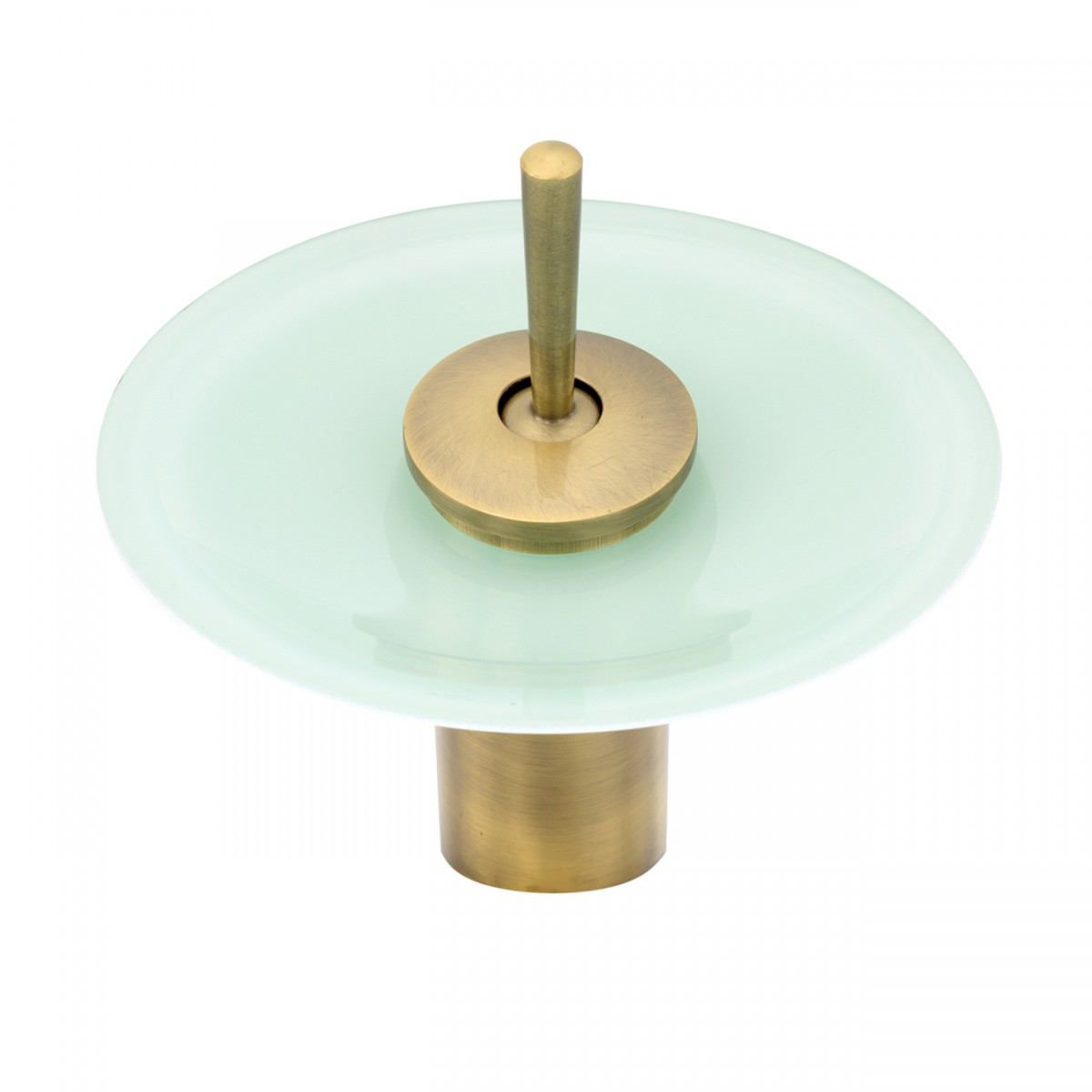 Cast Antique Brass Waterfall Faucet Teal Green 7 H Glass plate Waterfall Sink Faucet Waterfall Bathroom Faucets Glass Disk Faucet
