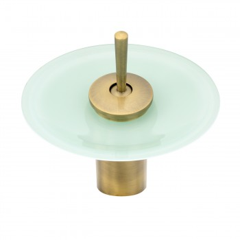 <PRE>Cast Antique Brass Waterfall Faucet Teal Green 7inch H </PRE>zoom3