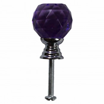Purple Glass Cabinet Knobs Round 25mm 10 pcs