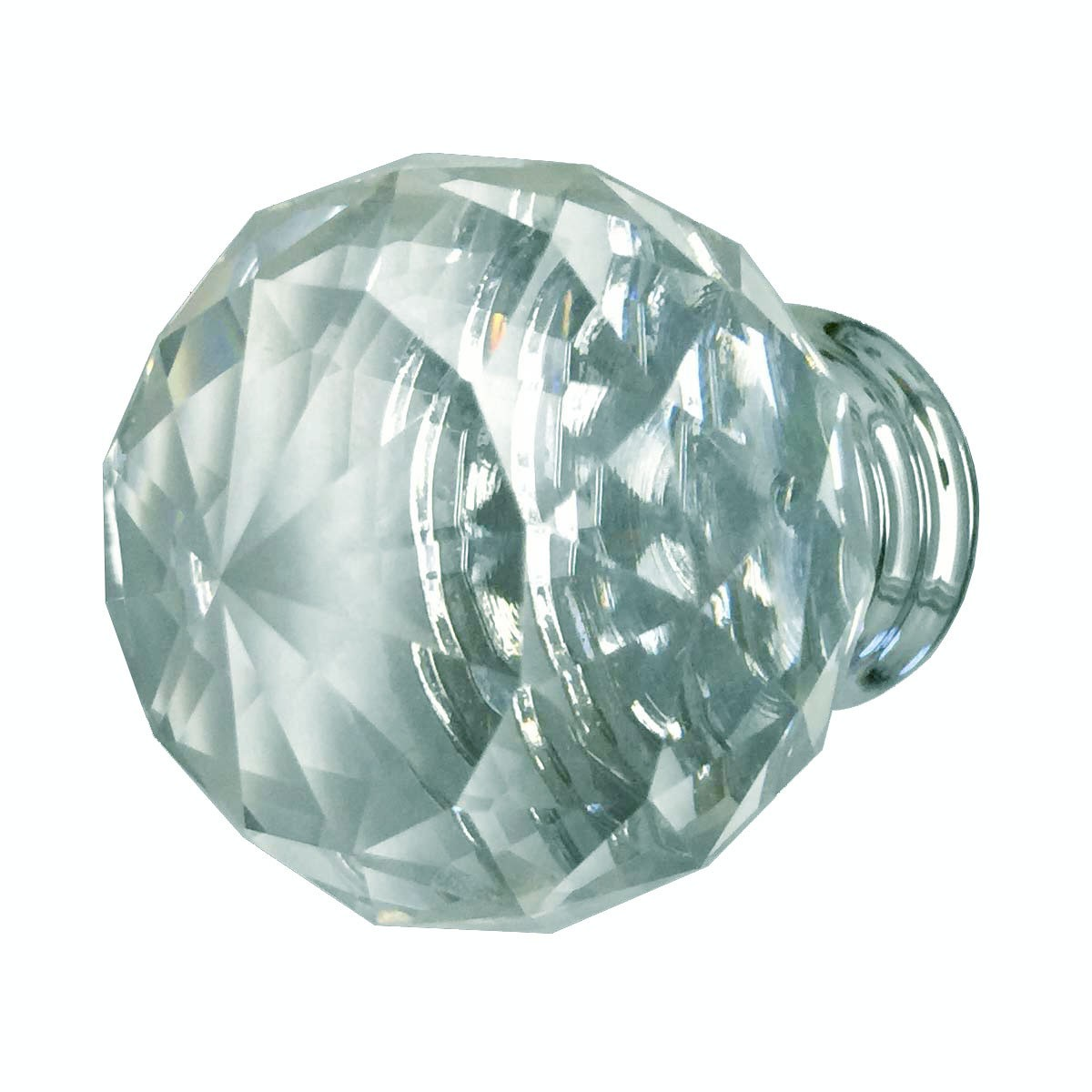 Clear Glass Cabinet Knobs 30mm Round, 1.5 inch projection 10 pcs Glass Cabinet Knobs Vintage Dresser Hardware Knobs Antique Cabinet Knobs