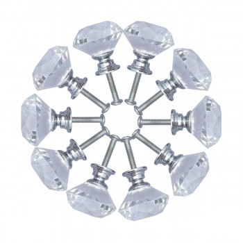 <PRE>Clear Glass Cabinet Knobs 1.8 Inch Projection Mushroom 10 pcs</PRE>