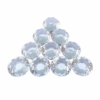 Clear Glass Cabinet Knobs Mushroom Head 1.18 inch Projection 10 pcs