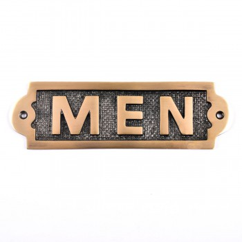 <PRE>Men Sign Polished Brass Plaque </PRE>zoom3