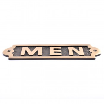 <PRE>Men Sign Polished Brass Plaque </PRE>zoom4