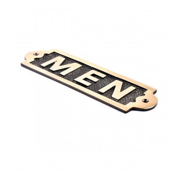 <PRE>Men Sign Polished Brass Plaque </PRE>zoom7
