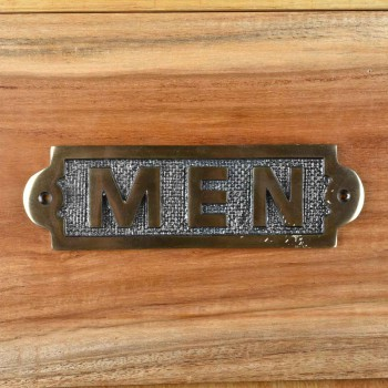 <PRE>Men Sign Polished Brass Plaque </PRE>zoom8