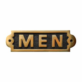 Men Sign Polished Brass Plaque 21920grid