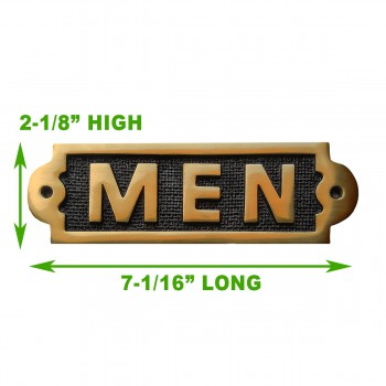 spec-<PRE>Men Sign Polished Brass Plaque </PRE>