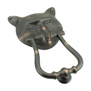 <PRE>Door Knocker Pharaoh Cat Head Cast Brass Oil Rubbed Bronze 8 3/8inch H </PRE>zoom4