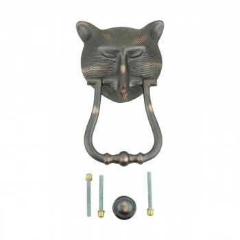 <PRE>Door Knocker Pharaoh Cat Head Cast Brass Oil Rubbed Bronze 8 3/8inch H </PRE>zoom10
