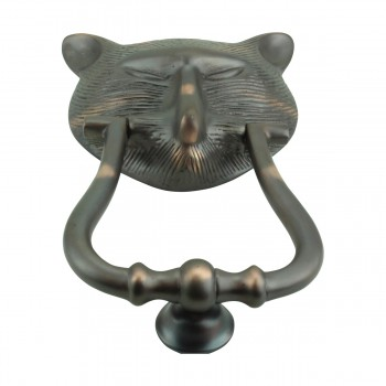 <PRE>Door Knocker Pharaoh Cat Head Cast Brass Oil Rubbed Bronze 8 3/8inch H </PRE>zoom12