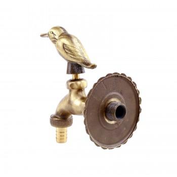 Outdoor Faucet Bird Spigot Solid Brass Antique Finish Garden Tap Hose Not Incl Brass Garden Faucet Garden Faucet Decorative Antique Garden Faucet