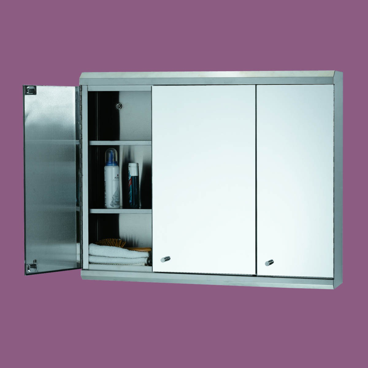 48 Bathroom Medicine Cabinet Three Door Polished Stainless Steel Medicine Cabinet Triple Door Stainless Steel