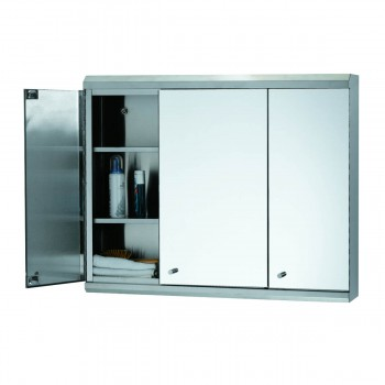 <PRE>48inch Medicine Cabinet Three Door Polished Stainless Steel </PRE>zoom3