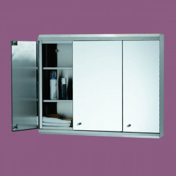 <PRE>48inch Medicine Cabinet Three Door Polished Stainless Steel </PRE>zoom4