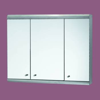 spec-<PRE>48&quot; Medicine Cabinet Three Door Brushed Stainless Steel </PRE>