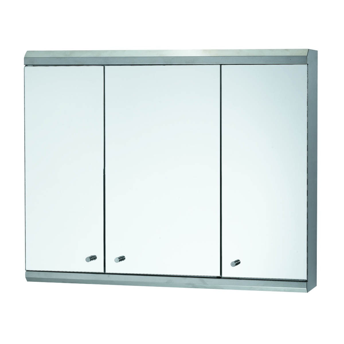 ... U003cPREu003e48inch Medicine Cabinet Three Door Brushed Stainless Steel ...