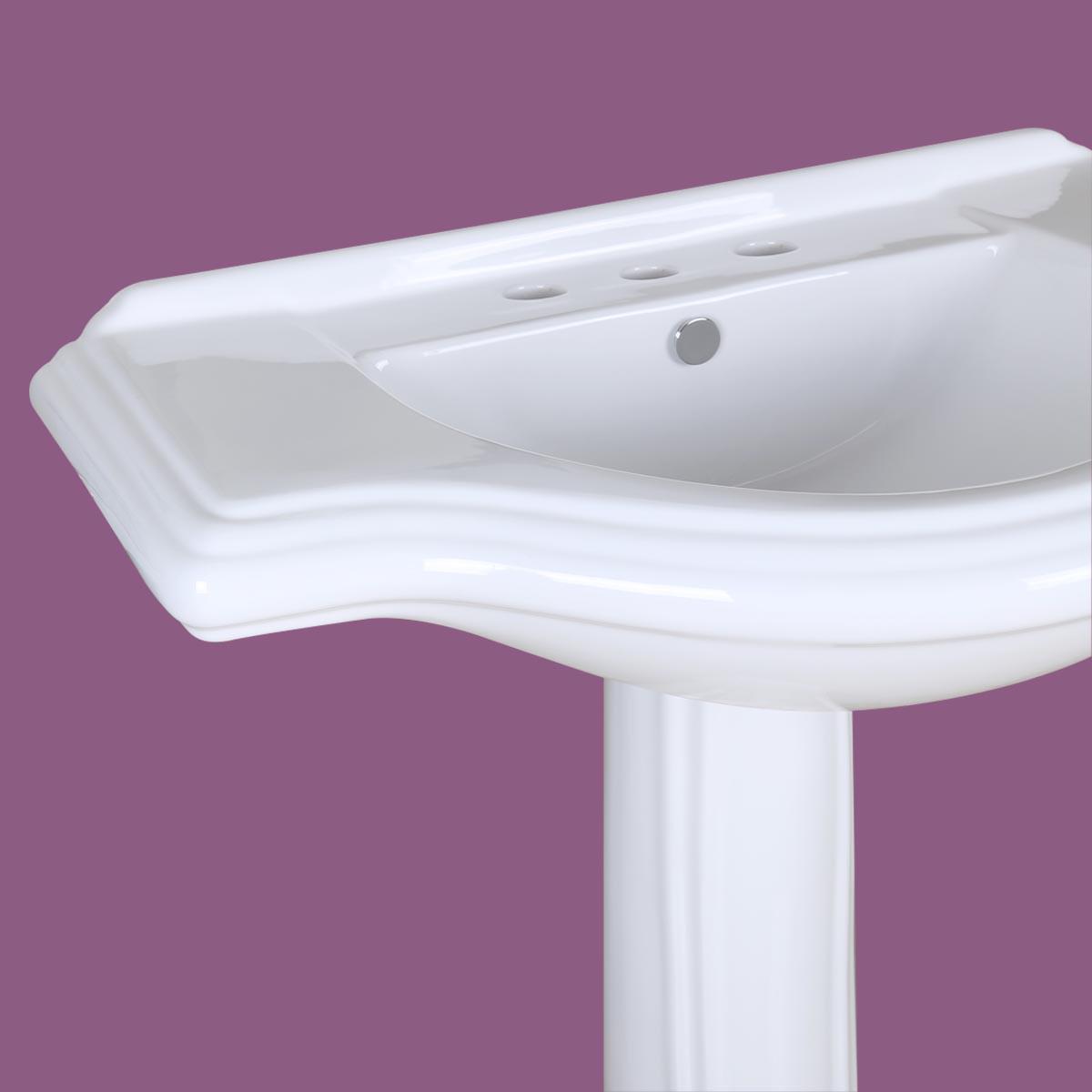 Big Bathroom Sinks Large Pedestal Sink Bathroom Console 8 Quot Widespread 34 Quot W