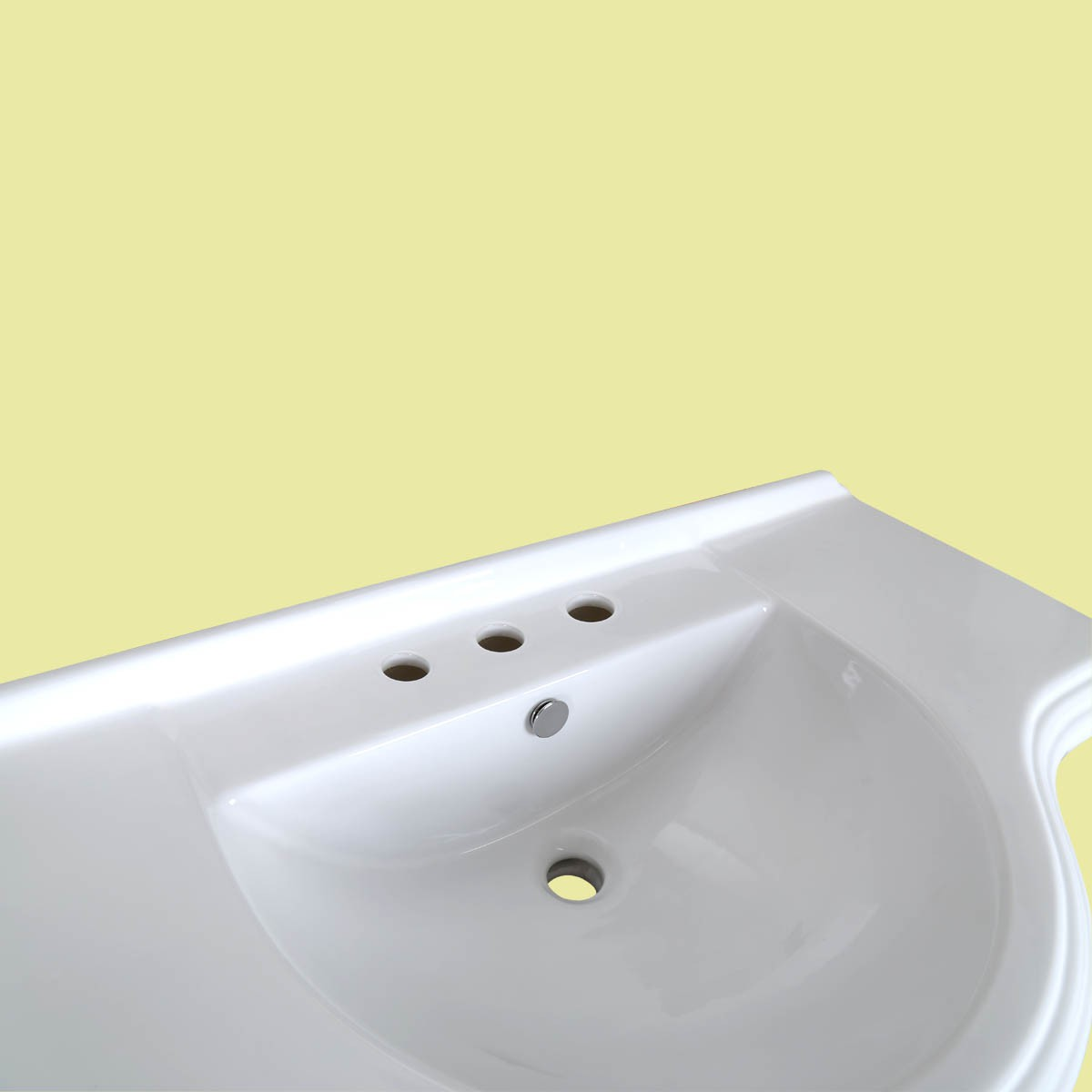 Bathroom Pedestal Sink Vintage Design White China 8in Widespread Faucet Holes Deluxe White Pedestal Sink Vintage Pedestal Sinks ceramic porcelain basin remodel