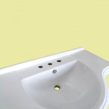 <PRE>Bathroom Pedestal Sink Vintage Design White China 8in Widespread Faucet Holes</PRE>