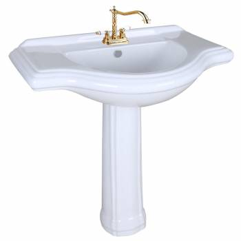 Large Commercial Pedestal Sink Bathroom Console 4