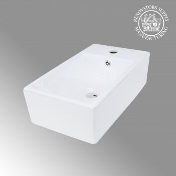 Bathroom Vessel Sink White Porcelain Above Counter Rectangle Countertop bathroom vessel sinks Countertop vessel sink Unique Bathroom Vessel Sink