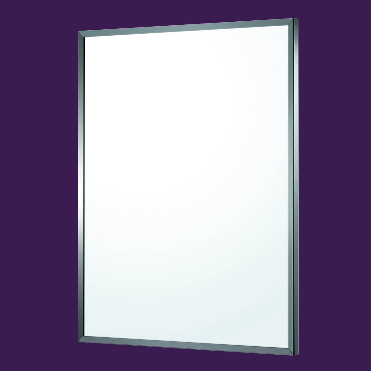 Bathroom Mirror Polished Stainless Steel Framed 32\