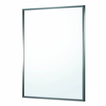 Bathroom Mirror Polished Stainless Steel Framed 32