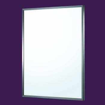 <PRE>Bathroom Mirror Brushed Stainless Steel Framed 32&quot; x 24&quot; </PRE>