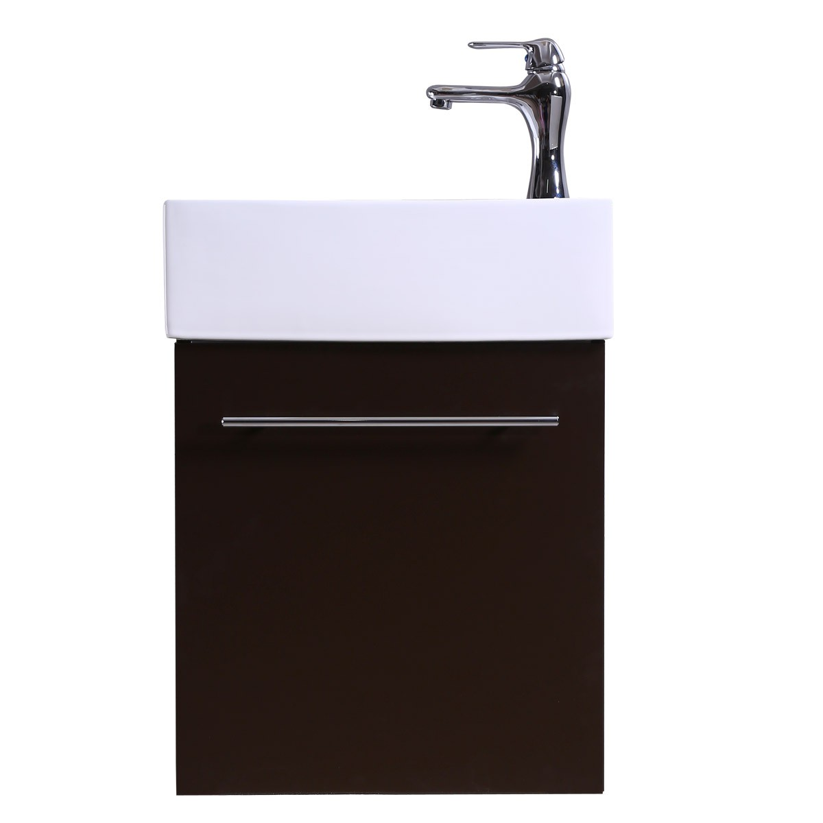 17 Quot Small White Vanity Bathroom Sink Black Cabinet With